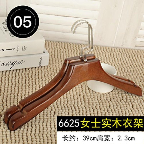 Kexinfan Hanger Hanger Clothing Store Special Solid Wood Non-Slip Clothes Clothes Wood Hanger No Trace Wooden Children'S Clothing Home, 10, 6625 Ladies Solid Wood Hanger