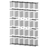 Order now george danis wire storage cubes metal shelving unit portable closet wardrobe organizer multi use rack modular cubbies black 14 inches depth 5x5 tiers