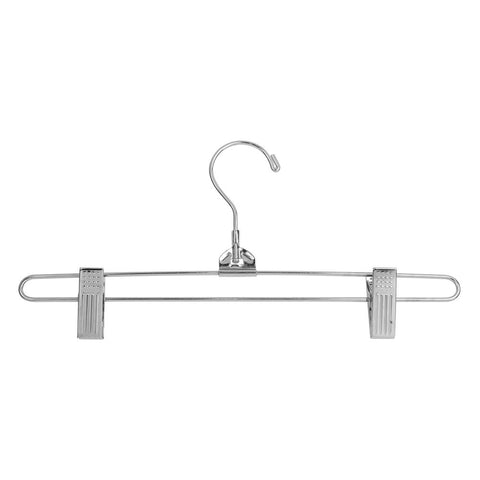 "12"" Steel Skirt Hanger w/ Regular Hook - Chrome Finish,Pack Size - 100"