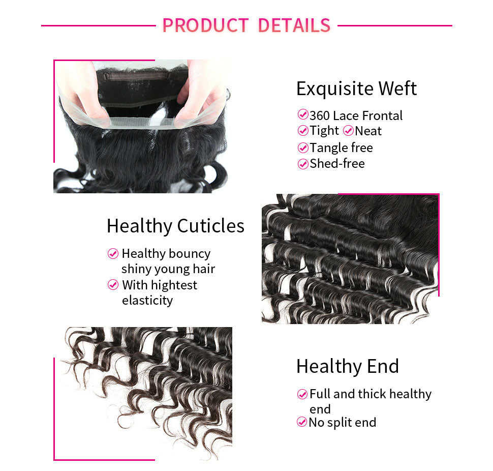 ReadyWig Loose Wave Free-Parting 360 Frontal-Hair Details