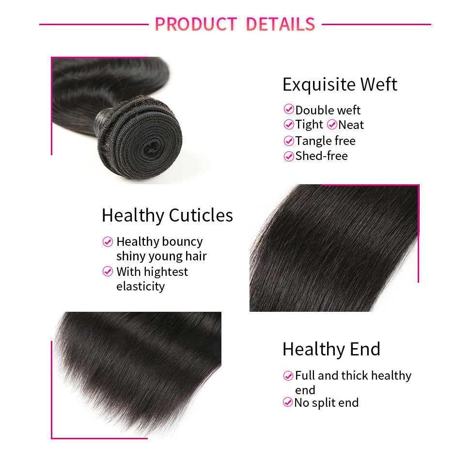 ReadyWig 1 Piece Straight 9A Grade Human Virgin Remy Hair Weave-hair details