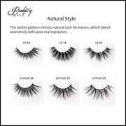 lightweight, fluffy mink lashes for eye-opening effect