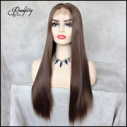 Deep Lace Front Wigs Synthetic Hair with Baby Hair Pre Plucked Hairline for Women body wave wigs