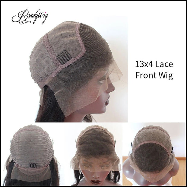 13X4 lace front human hair wig cap