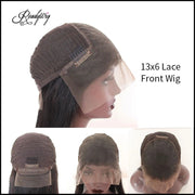 13X6 lace front human hair wig cap