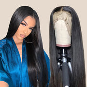13*4 Straight Brazilian Black Lace Wig Free Part Bleached Knots