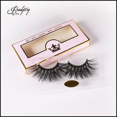 5D mink lashes with crisscross patterns