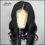 lace frontal middle part wigs body wave black wig glueless lace wig for black women