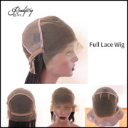adjustable hair net breathable and durable lace capless wig with secure combs transparent lace front wig