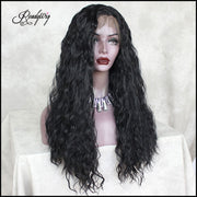 Black Lace Front Wig Natural Looking strraight Free Parting Heat Resistant Lace Wig