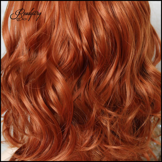 Short Wavy Lace Wig Pumpkin Wigs for cosplay Heat Resistant Synthetic Wig