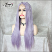 trendy long straight lace wigs with free parting and baby hairs