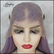 best-quality purple long staright lace wigs with minimal shedding