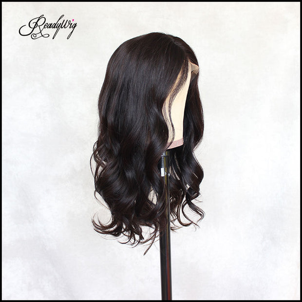"""smooth, thick and bouncy human hair minimum shedding, tangling-free, pre-plucked babyhair,most natural hairline wig"""