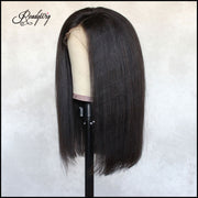 """smooth, thick and bouncy human hair minimum shedding, tangling-free, pre-plucked babyhair,high density wig"""
