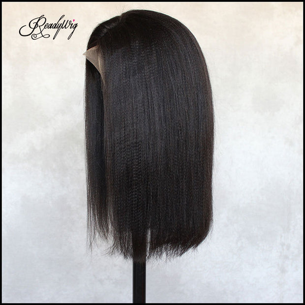 straight hair wig, 100% unprocessed human hair Lace part wig glueless human hair Wig with natural looking