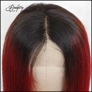 readywig red human lace wig hairline
