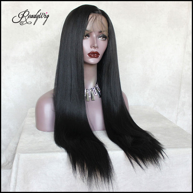 synthetic wig with 13*4 swiss lace
