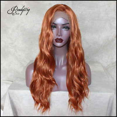 ReadyWig Orange Loose Wave Synthetic Lace Front Wig 20 Inches