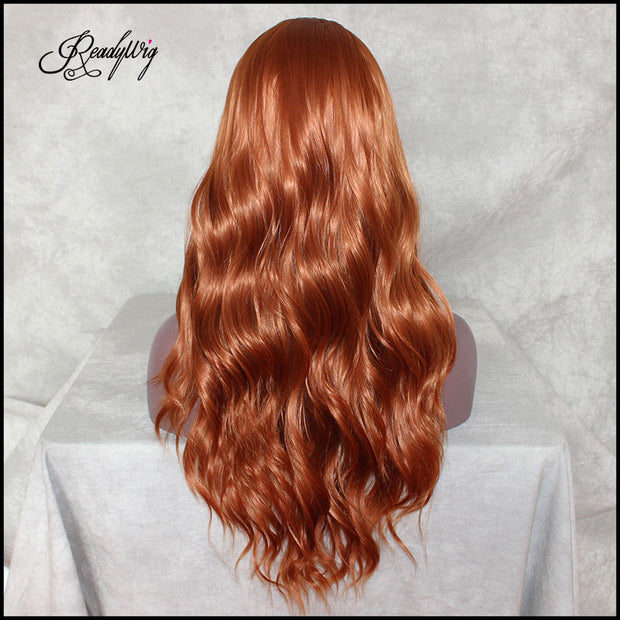 Long Wavy Heat Resistant Fiber Hair Wigs For Women