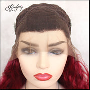 ReadyWig Red Loose Curly Synthetic Lace Front Wig 24 Inches