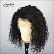 """kinky curly short hair wig, 100% unprocessed human hair Lace part wig 360 deep part swiss lace wigs"""