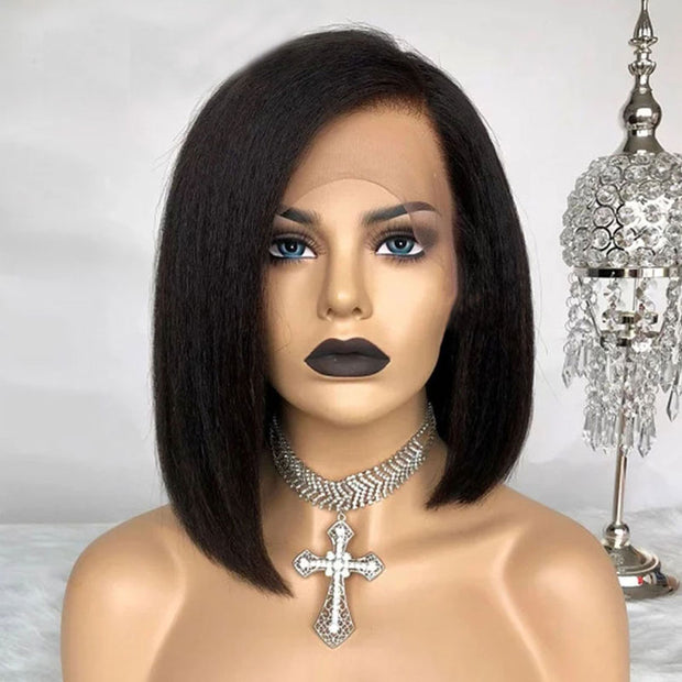 Short Bob Wig Lace Front Human Hair Wigs Preplucked Lace Wig 150% Density