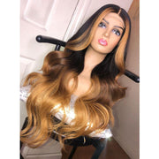 Preplucked human hair 13*4 Lace Wig with breathable wig cap