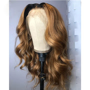 Ombre Color Body Wave Human Hair Lace Front Wig