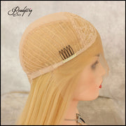 Adjustable Hair Net breathable Lace Capless Synthetic Lace Front Wig