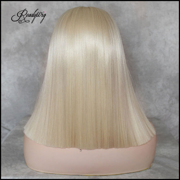 613 blonde Lace Front Wig bob wig Silky Straight Free Parting Heat Resistant Lace Glueless Synthetic Wig