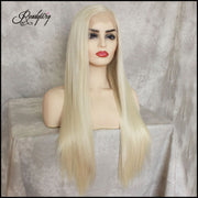 13x6 Lace Front Wigs Synthetic Hair with Baby Hair Pre Plucked Hairline for Women body wave wigs
