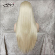 613 blonde Lace Front Wig Natural Looking Silky wavy Free Parting Heat Resistant Lace Glueless Synthetic Wig