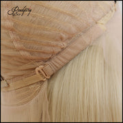 Pre Plucked 13x6 Lace Front Wig 613 blonde wavy Synthetic Hair with Baby Hair for Black Women