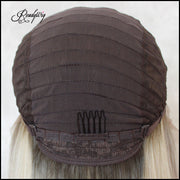 straight hair wig, waist-length natural Straight Hairstyle Capless Synthetic Lace Front Wigs