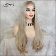 ash blonde hair, blonde hair Synthetic Lace Front Wigs
