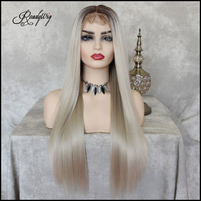 """13x6 Lace Front Wigs Synthetic Hair with Baby Hair Pre Plucked Hairline Straight Hair"""