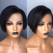 Preplucked Pixie Cut Lace Wig made of remy hair