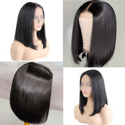 tangling-free short human hair lace front wig