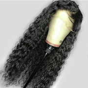 black long wavy human hair wig