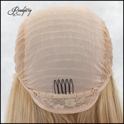 straight hair wig, waist-length Silky Straight Hairstyle Capless Synthetic Lace Front Wigs