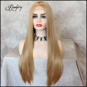 Blonde Silky Straight Synthetic Lace Front Wig