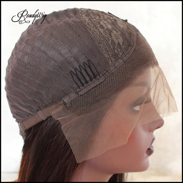 Minimum shedding, tangling-free, most natural pre-plucked hairline wig