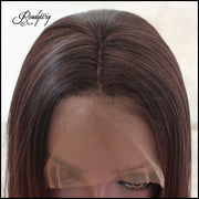ReadyWig Brown Ombre Short Hair Synthetic Lace Front Wig 16 Inches
