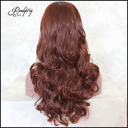 Long Body Wavy Glueless Synthetic Wig Heat Resistant Half Hand Tied Full Hair Wig