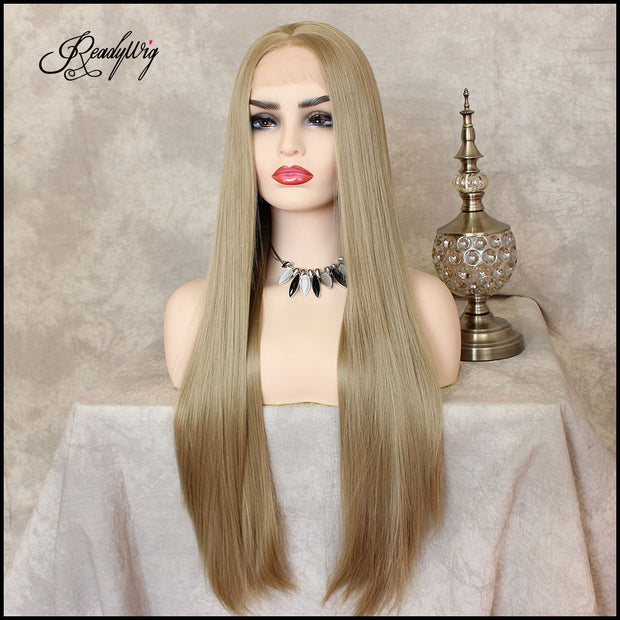 platinum blonde hair, blonde hair Synthetic Lace Front Wigs