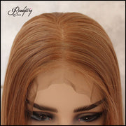 13x6 Lace Front Wigs Synthetic Hair with Baby Hair Pre Plucked Hairline for Women 130% Density