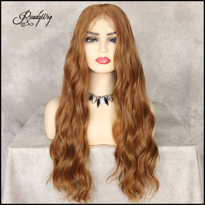 ReadyWig Tawny Brown Loose Wave 13*6  Lace Front Synthetic Wig 24 Inches