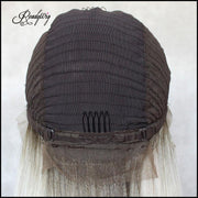adjustable hair net breathable and durable lace capless wig with secure combs brown lace front wig
