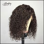 deep curly wigs with bleached knots 13x4 lace front,13x6 lace front, full lace wig